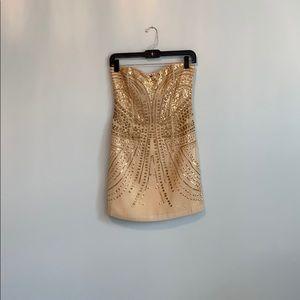 Beaded gold dress